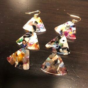 Asetate multicolour earrings